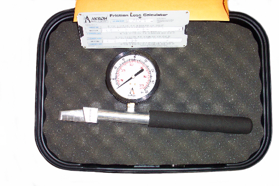 Akron Brass Pitot Gauge with Case