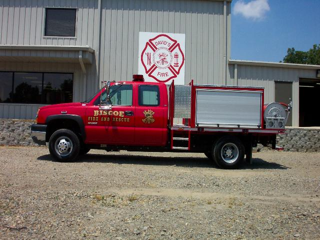 Biscoe, AR - Flatbed Brush Truck, Left Side