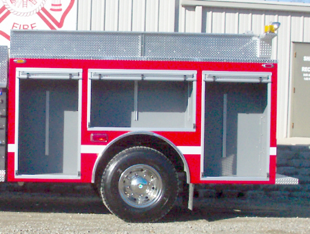Biscoe, AR, Commercial Pumper, Left Side, Doors Open