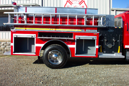 Biscoe, AR, Commercial Pumper, Right Side, Doors Open