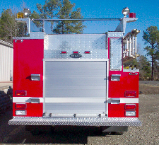 Biscoe, AR, Commercial Pumper, Rear View