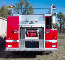 Biscoe, AR, Commercial Pumper, Rear View, Door Open