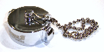 "1-1/2"" NH Chrome Plated Cap with Chain"