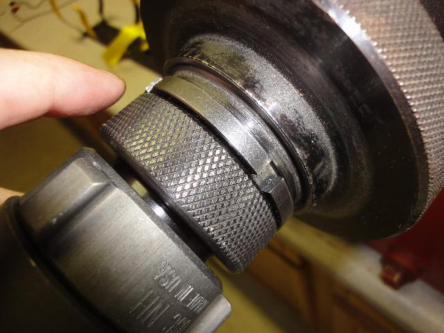 Coupling Being Held on Machine While Tool is Being Jogged