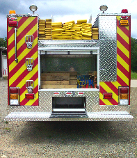 North Pulaski, AR, Custom Pumper, Rear View, Doors Open