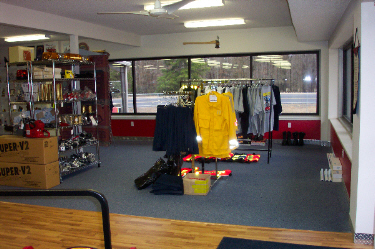 David's Fire Equipment Showroom, Discount Rack and Fire Tees