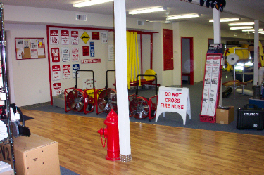 David's Fire Equipment Showroom, Signs and Fans