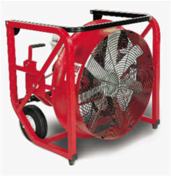 SuperVac 24 Inch Positive Pressure Ventilation Fan with Honda Engine